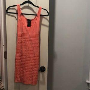 Bebe bodycon dress- coral